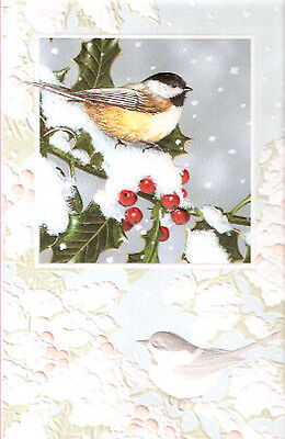 Charming Chickadee by Jack Williams Embossed Christmas Cards Box of 16