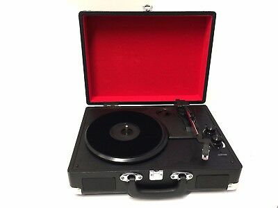 Briefcase Bluetooth Record Player Turntable Portable 3 Speed Vinyl Suitcase