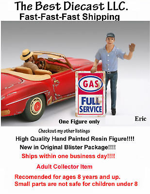 Gas Station Attendant Eric & Tom American Diorama 1:18 Set of 2 Figures