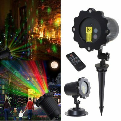Outdoor Waterproof Moving Projector Laser LED Garden Christmas Light Stage Light