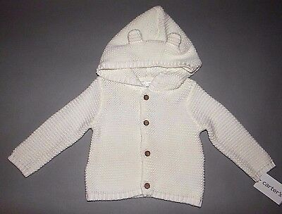 Baby girl clothes, 3 months, Carter's Must Have white knit sweater
