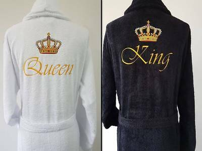 Personalised Embroidered Terry 100% Cotton Bathrobe, Dressing Gown, Perfect Gift