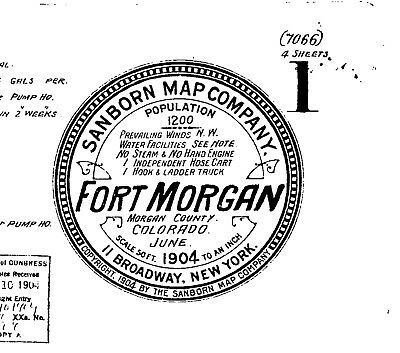 Fort Morgan, Colorado~Sanborn Map© sheets with 21 maps on CD~1895 to 1920