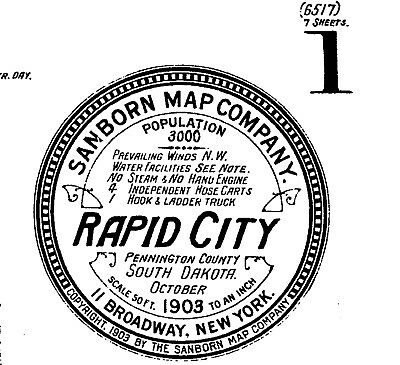 Rapid City, South Dakota ~Sanborn Map© sheets~ PDF files with 7 maps on CD