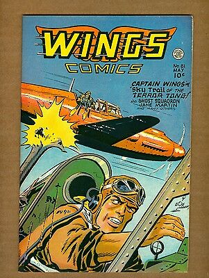 Wings Comics 81 (FN+) 1947 Fiction House Phantom Falcon Ghost Squadron (c#08752)