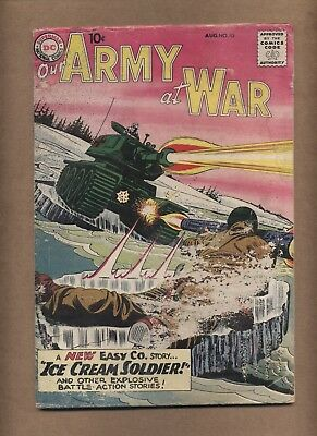 Our Army at War 85 (FRG) Origin/1st app. Ice Cream Soldier 1959 DC (c#15866)