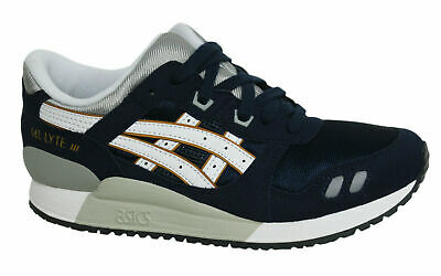 88eded30ece09 Asics Gel-Lyte III Lace Up Navy Synthetic Kids Junior Trainers C5A4N 5001  D106