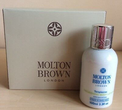 MOLTON BROWN Templetree Nourishing Body Lotion 100ml Travel Size NEW in Gift Box