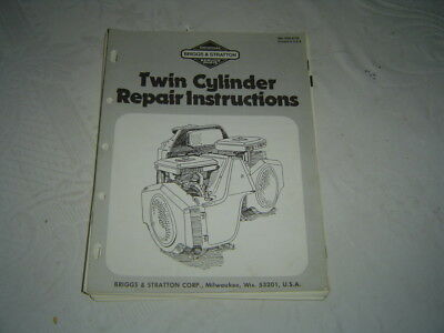 Briggs & Stratton engine twin cylinder repair instruction service manual