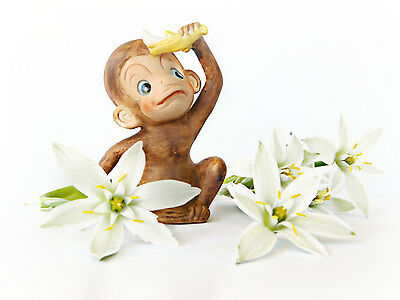 Vintage KELVIN Jungle Friends Monkey with Banana Figurine C737 Dead Stock w/ Tag