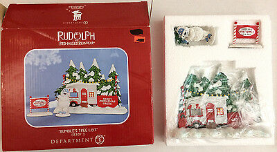 Department 56 Christmas Rudolph's Red Nosed Reindeer Bumble's Tree Lot set of 3