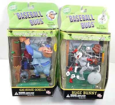 LOONEY TUNES Baseball Bugs - Bugs Bunny & Gas-House Gorilla Set DC DIRECT (L)