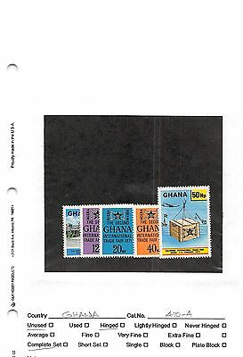 Lot of 46 Ghana MH Mint Hinged Stamps #99919 X R