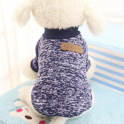 Small Medium Pet Dog Clothes Sweater Warm Knitted Jumper Winter Apparel