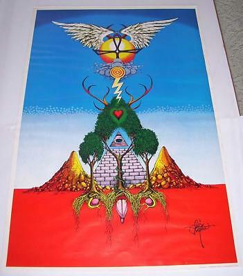 Rick Griffin The Unnamable Poster Original Vintage 1968 Hand Signed by Artist