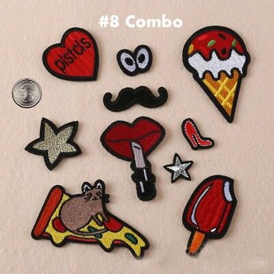 New Embroidered Iron On/ Sew On PATCH Lot Craft DIY Badge Bag Fabric Applique #2