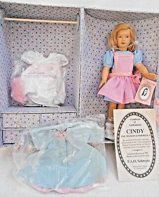 "14"" Cindy Trunk set Clothes Modern Cinderella doll FAO Limited COA Effanbee NIB"