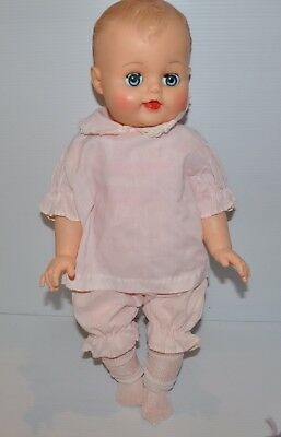 vintage 20 inch tall RELIABLE BABY DOLL 1960s - rj