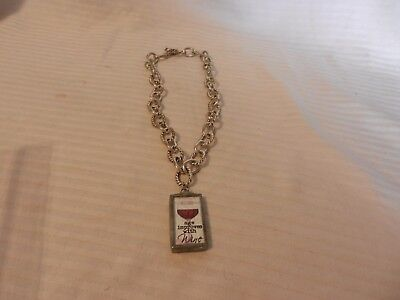 Vintage Age Improves With Wine Locking Chain Necklace or for Wine Bottle