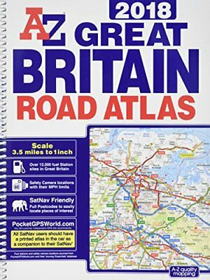 Great Britain Road Atlas: 2018 by Geographers' A-Z Map Co Ltd (Spiral bound,...