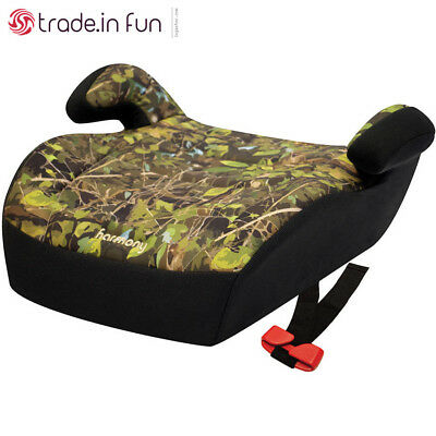 Backless Booster Car Seat Portable for 4 5 6 7 Year Old Big Kid Camo Boost Comfy