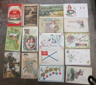 Lot of 90 Vintage Postcards Greetings , Birthday & Others 1906-1925 No Reserve
