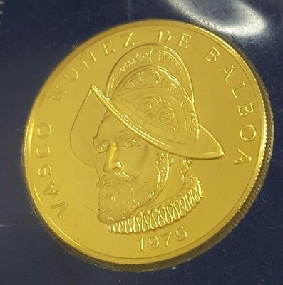 1975 One Hundred Balboas Gold Coin Republic Of Panama  Franklin Mint