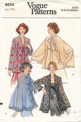 1970's VTG VOGUE Misses' Evening Jacket  Pattern 9224 Size 10 UNCUT