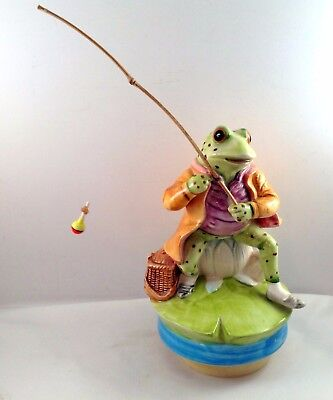 Beatrix Potter Jeremy Fisher Music Box Schmid Plays Up The Lazy River Number 271