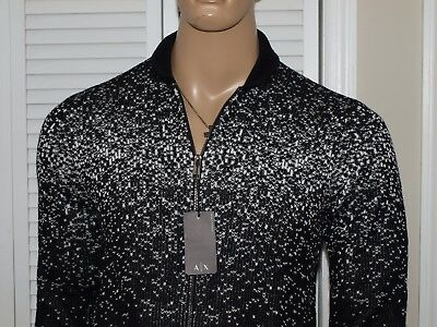 ARMANI EXCHANGE Authentic Diffusion Sweater Jacket Black NWT