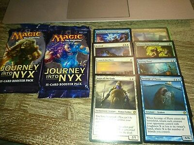 magic the gathering mtg - Journey into Nyx lot 2 x booster + Rare