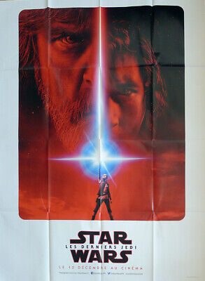 Star Wars The Last Jedi - Hamill / Fisher  - Original Advance Large Movie Poster