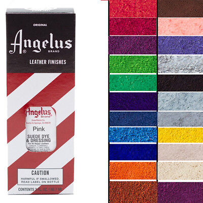 Angelus Suede Nubuck Dye Dressing 27 Colors 3 Oz With Applicator