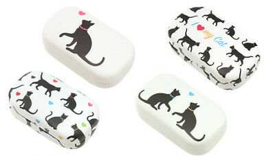 Black Cat Cats Novelty Contact Lenses Case Ladies Girls Stocking Filler Gift