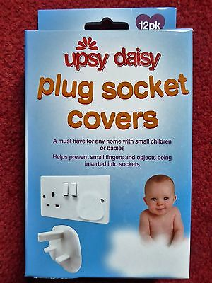 Plug Socket Covers x 12 - UK 3 Pin