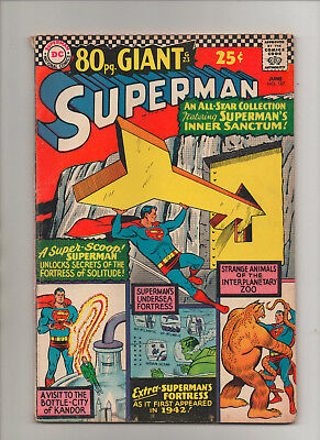 Superman #187 - 80 Page Giant! Fortress Of Solitude - (Grade 6.0) 1966