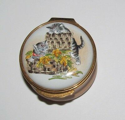 Halcyon Days Enamels Kittens Playing Trinket Pill Box Smithsonian Institution