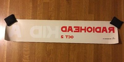 Radiohead Kid A Large Promotional Store Window Decal Sticker RARE 38.5 x 8