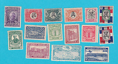 DOMINICA REPUBLIC  15 MH STAMPS lot #165
