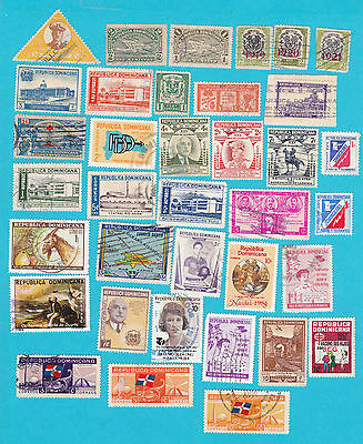 DOMINICAN REPUBLIC 55 USED STAMP lot #160