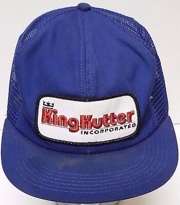 Vtg 1980s KING KUTTER Incorporated Farm Equipment Advertising Patch SNAPBACK HAT