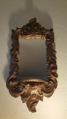 1920s Antique Victorian and Ornate Style Small Hanging Mirror