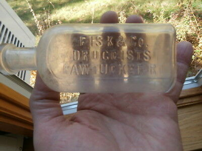 Fisk & Co./ Druggists/ Pawtucket,r.i.medicine Bottle
