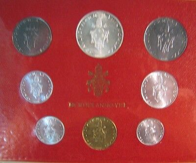 1970 Vatican City Mint Coinage Set Uncirculated 8 Coin**  FREE U.S. SHIPPING  **