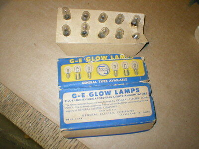 GE General Electric NE-51 NEON GLOW Lamp Light Bulbs Lot of 10