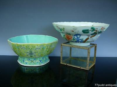 Lot Of Two Antique Chinese Famille Rose Porcelain Bowls, Jiaqing & Daoguang Mark