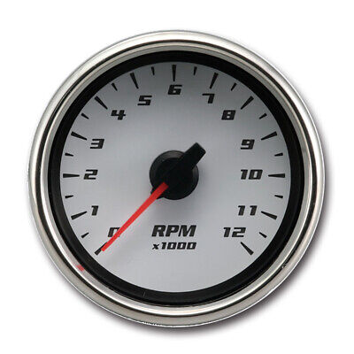 Taiwan Made White Face BlueLED 0-12000RPM Electrical Motorcycle Tachometer Gauge