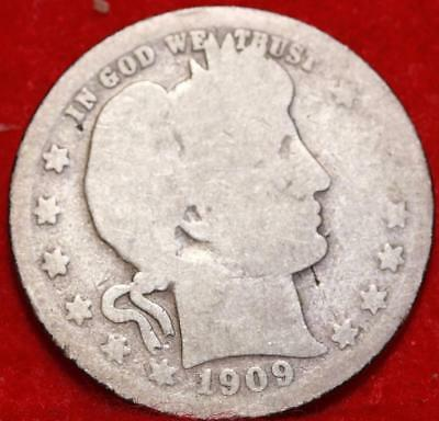 1909-O New Orleans Mint Silver Barber Quarter Free Shipping