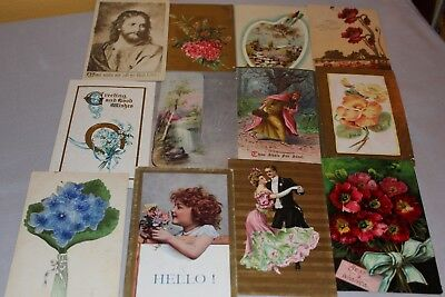 Sell lot of 100 Antique Greeting & Misc. Postcards