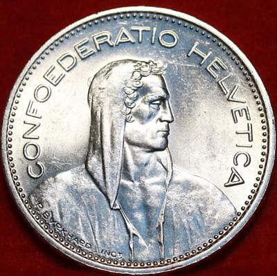 Uncirculated 1965 Switzerland 5 Francs Silver Foreign Coin Free S/H